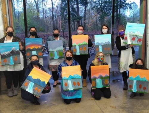 Covid painting class