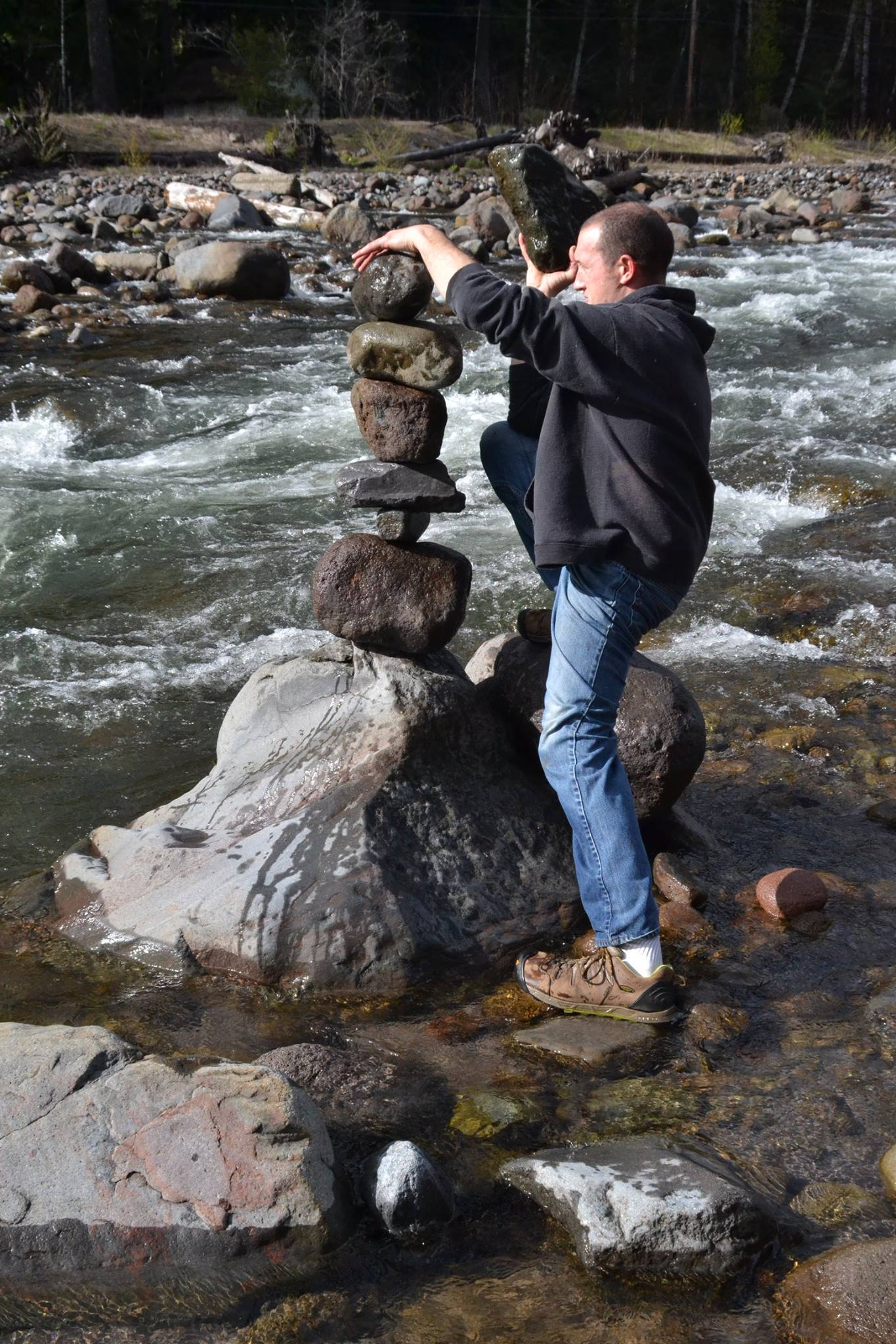 Rich rock stacking